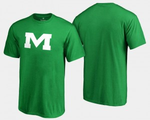 For Men's Ole Miss Rebels St. Patrick's Day White Logo Big & Tall College T-Shirt Kelly Green