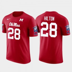 Future Stars Pittsburgh Steelers Football Red Ole Miss Rebels #28 Men Mike Hilton College T-Shirt