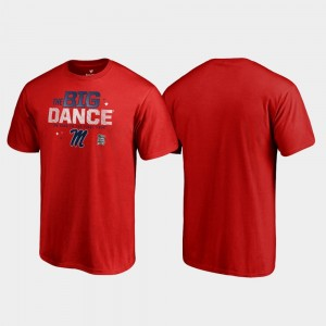 Red Men's March Madness 2019 NCAA Basketball Tournament Big Dance Ole Miss College T-Shirt