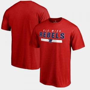 Team Strong Red Rebels College T-Shirt Mens