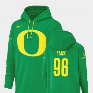 Football Performance Champ Drive Oregon Adam Stack College Hoodie For Men #96 Green