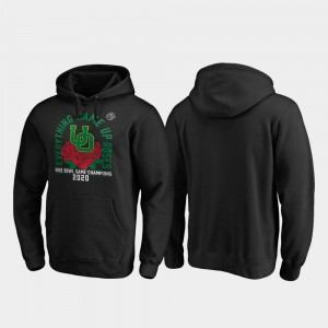 UO 2020 Rose Bowl Champions For Men's Black Receiver College Hoodie