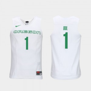 Men Bol Bol College Jersey White UO Authentic Performace Elite Authentic Performance Basketball #1