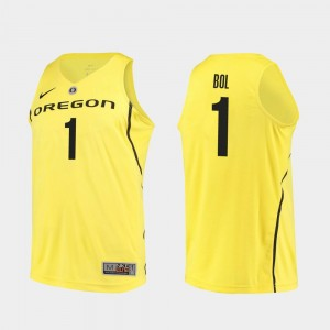 Mens Bol Bol College Jersey Basketball Authentic Yellow #1 UO