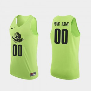 Authentic Men's Basketball Apple Green #00 Ducks College Customized Jersey