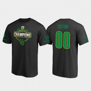 UO 2019 PAC-12 North Football Division Champions #00 Black College Custom T-Shirts Men's
