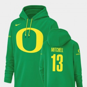 Football Performance University of Oregon Dillon Mitchell College Hoodie For Men's Champ Drive #13 Green
