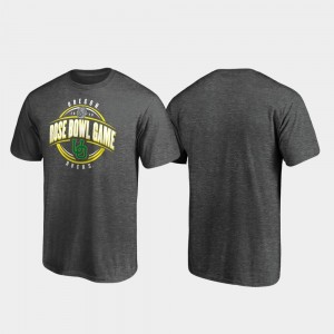 Heather Gray For Men's College T-Shirt Oregon Duck Scrimmage 2020 Rose Bowl Bound