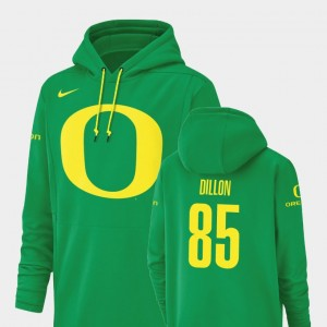 Green Kano Dillon College Hoodie For Men's Champ Drive #85 Oregon Duck Football Performance