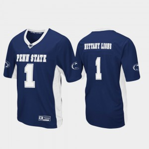 Max Power Football #1 College Jersey Navy PSU For Men's