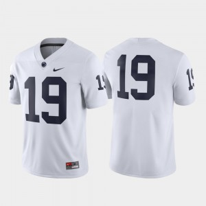 Football #19 Penn State Nittany Lions White For Men's Game College Jersey