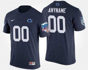 College Customized T-Shirts #00 Navy For Men's Bowl Game Fiesta Bowl Penn State Nittany Lions