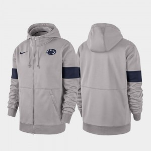 Gray For Men's Penn State 2019 Sideline Therma-FIT Performance Full-Zip College Hoodie