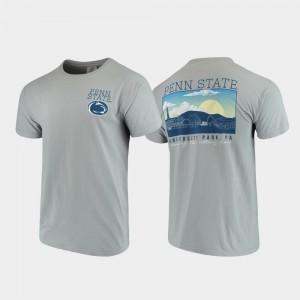 Campus Scenery Mens Gray College T-Shirt Comfort Colors Penn State