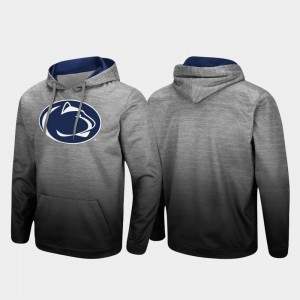 College Hoodie Pullover Penn State Nittany Lions For Men's Sitwell Sublimated Heathered Gray