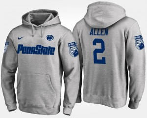 Nittany Lions Marcus Allen College Hoodie For Men's #2 Gray