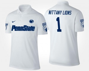 College Polo No.1 Short Sleeve Penn State Mens #1 White
