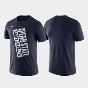 Penn State Nittany Lions College T-Shirt Navy Men Just Do It Basketball Performance