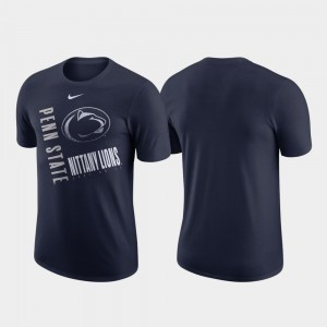 Performance Cotton Just Do It Men College T-Shirt Navy Penn State