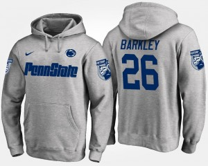 Saquon Barkley College Hoodie For Men Gray #26 Nittany Lions