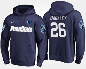 Saquon Barkley College Hoodie #26 Navy For Men Nittany Lions