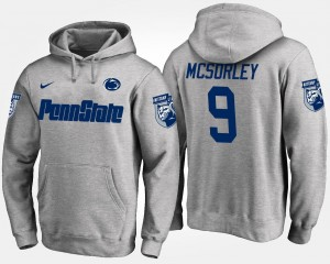 #9 Penn State Nittany Lions For Men's Gray Trace McSorley College Hoodie