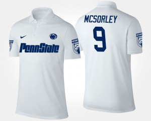 Men's White Penn State Trace McSorley College Polo #9