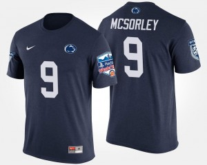 #9 Trace McSorley College T-Shirt Nittany Lions Navy Bowl Game For Men's Fiesta Bowl
