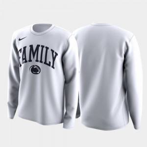Family on Court March Madness Legend Basketball Long Sleeve For Men's College T-Shirt White Penn State