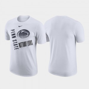 College T-Shirt Just Do It Performance Cotton White Penn State For Men's