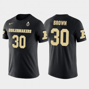 Dallas Cowboys Football Purdue #30 Anthony Brown College T-Shirt For Men's Future Stars Black