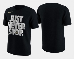 Basketball Tournament Just Never Stop College T-Shirt Black March Madness Selection Sunday For Men Purdue Boilermakers