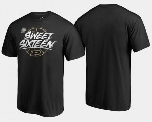 Sweet 16 Bound Purdue Black 2018 March Madness Basketball Tournament Backdoor College T-Shirt For Men