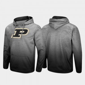 Heathered Gray Purdue Pullover For Men Sitwell Sublimated College Hoodie