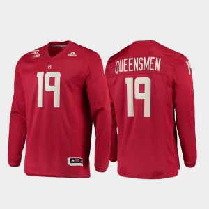 #19 150th Anniversary College Jersey Rutgers Men Strategy Long Sleeve Football Scarlet