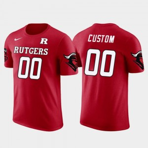 Cotton Football Men Rutgers Scarlet Knights #00 Future Stars College Customized T-Shirt Red