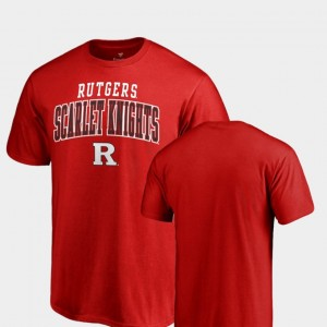 For Men's Rutgers Scarlet Knights Square Up College T-Shirt Scarlet