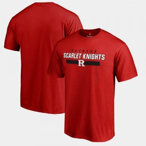 College T-Shirt Scarlet Team Strong Scarlet Knights Mens