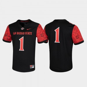 For Men's Untouchable Black #1 College Jersey Game San Diego State