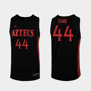 2019-20 Basketball San Diego State Michael Cage College Jersey Replica Black #44 Men's