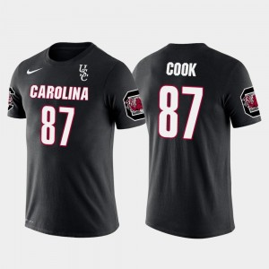 USC Gamecock For Men's Future Stars Oakland Raiders Football Jared Cook College T-Shirt Black #87