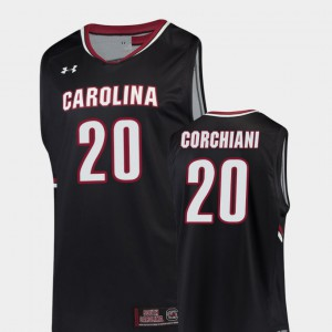 Basketball Replica Black Gamecock Tommy Corchiani College Jersey Mens #20