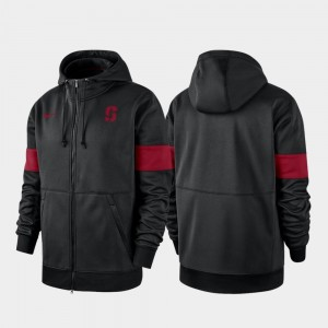 Black Stanford Cardinal For Men's Performance Full-Zip College Hoodie 2019 Sideline Therma-FIT