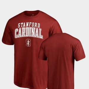 Stanford College T-Shirt Cardinal Square Up Men