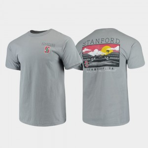 Comfort Colors Gray For Men College T-Shirt Campus Scenery Stanford University