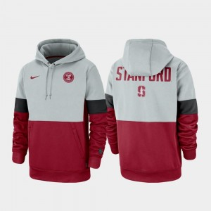 College Hoodie Stanford Cardinal Mens Therma Performance Pullover Rivalry Gray Cardinal