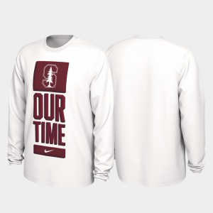 Our Time Bench Legend 2020 March Madness White Men College T-Shirt Stanford University