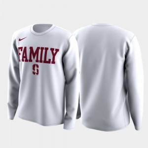 White Stanford University College T-Shirt March Madness Legend Basketball Long Sleeve Family on Court Men