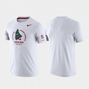 White College T-Shirt Stanford For Men's Tri-Blend Performance Rivalry
