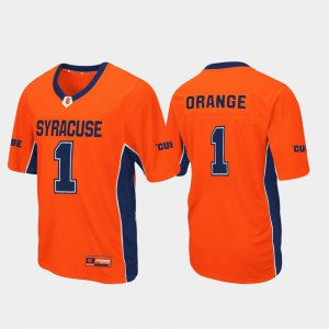 Cuse For Men Football Max Power Orange #1 College Jersey